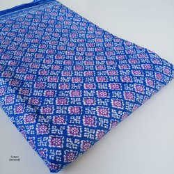 Blue Cotton Printed Suits