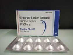 Divalproex Sodium Extended Release Tablets ip 500 mg.