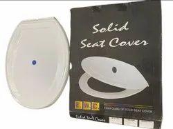 White PVC EWC Solid Toilet Seat Cover