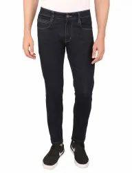 Plain Casual Wear Raw Denim Black Jeans, Waist Size: 28 Inch
