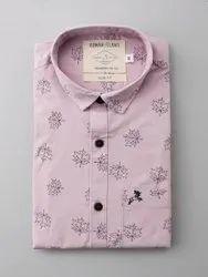 Twill pink Casual Shirts, Size: M