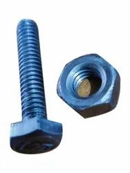 Silver Round Iron Hex Nut Bolt, For Hardware Fitting, Size: 8mm