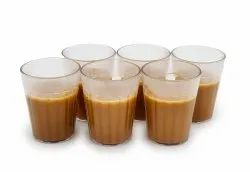 Polycarbonate Plastic Unbreakable Traditional Cutting Chai Tea Glass For Home And Hotel 100Ml