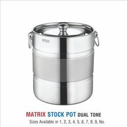 Stainless Steel Stock Pots-Matrix Dual Tone