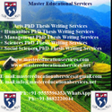 Agriculture, Policy And Development MS Dissertation Writing Services
