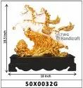 Fengshui Victory Gold Plated Horse Statue