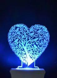 Heart Glass Statue, For Interior Decor