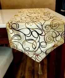 Printed Hotel Silk Table Runner, Size: 12 X 60 Inch