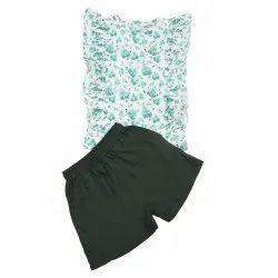 Kids Cotton Floral Printed Top Shorts Set