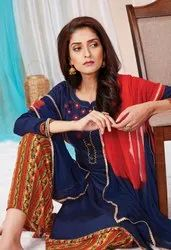 Casual Printed Rayon Palazzo Suit