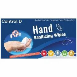 Control D Hand Sanitizer Wipes, For Personal
