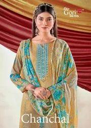 Shiv Gori Chanchal Cotton Digital Printes Salwar Suits Catalog