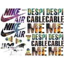 Multicolor Heat Transfer T-Shirt Stickers