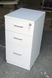 Modular Mobile 3 Drawer Office Pedestal / Chester Cabinet With Central Locking System & Wheels