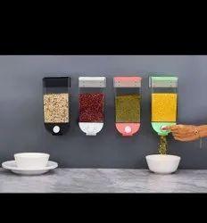 Push Button Transparent Kitchen Storage Container Set (1500 ML Capacity, Multicolor, Pack of 4 PCS)