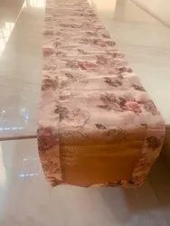 Multicolor Printed Embroidered Table Runner