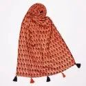 Red Flower Printed Stoles