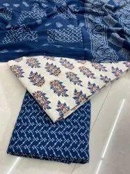 Ajrakh Prints In Pure Cotton Material With Soft Cotton Mulmul Dupatta Suits