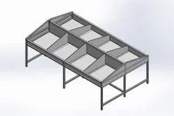 Vegetable Stainless Steel Display Rack
