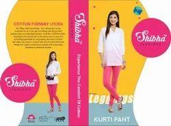 Shibha Four Way Cotton Ladies Pink Kurti Pant