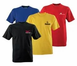 Unisex Cotton T Shirt Logo Printing, For Promotional Of Branding, Round & Collar