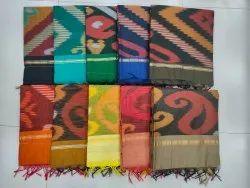 Casual 25 Color Available Pochampally Ikat Saree