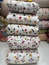 Pure Cotton Silk Embeoidery Fabric