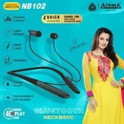 Aroma Wireless Earphones Bluetooth Neckband, Model Name/Number: NB102