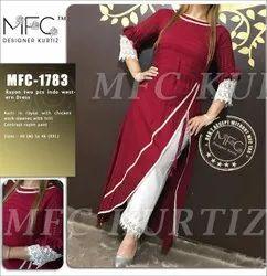 Rayon 2 Pcs Indo western Dress Kurti