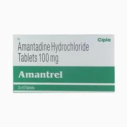 100 Mg Amantadine, 15 Tablets In 1 Strip, Treatment: Parkinson's Disease
