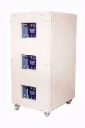 Automatic 99% Three Phase Air Cooled Servo Voltage Stabilizer for Wire Cut Machine, 400 V+-1%, 300 - 470 V