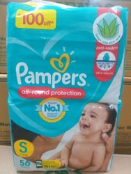 Pant Diapers Pampers Baby Diaper Small, Age Group: 1 TO 3 MONTHS
