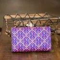 Machine Embroidered Party Clutch