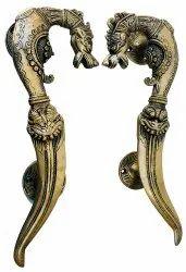 Nirmala Handicrafts Brass Decorative Tibetan Dragon Antique Door Handle Knocker