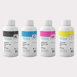 Neha 664 ( Pack Of 4) For L200, L100, L300, L555, L101, L211, L358, L201, Me10, Me101 Ink (1 Litre)