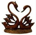 Polyresin Swan Pair Figurines / Showpiece
