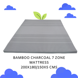 欧洲乳胶泡沫竹炭7层床垫,尺寸:200 X 180厘米,厚度:2毫米