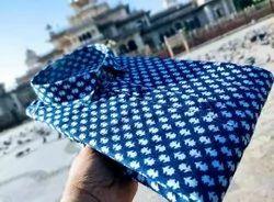 Printed Blue Cotton Fabric Shirt