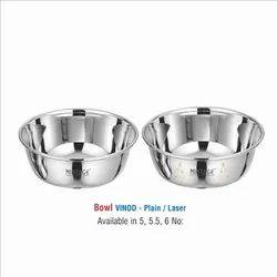 Stainless Steel Vinod Bowl Set - Laser Eteching