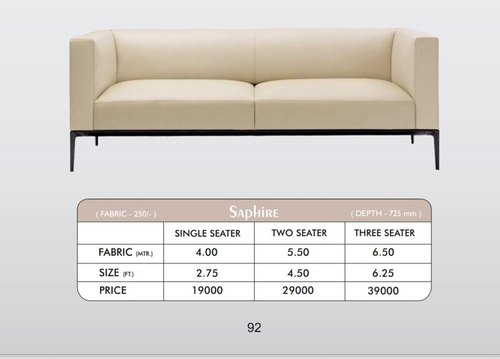 Modern 2 Seater Living Room Sofa Set, What Size Is A 2 Seater Sofa