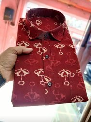Printed Cotton Fabric Shirt