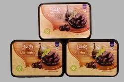 A Grade Black Marhaba Dates 250 Grams, Packaging Type: Carton, Packaging Size: 6 Kgs