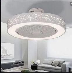 LED Ceiling Fan Light 220V Modern Stealth Fan Chandelier White With Remote