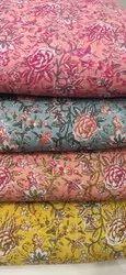 Multicolor Printed Cotton Fabric Suit