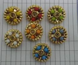 Golden Metal Fancy Buttons, For Kurti and suits, Packaging Type: Packet