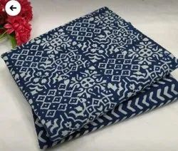 Printed Blue Pure Cotton Suit For Women