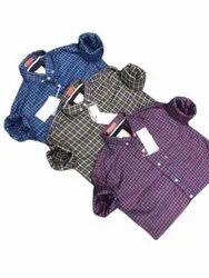 Collar Neck Cotton Formal Wear Mens Casual Check Shirts, Machine wash