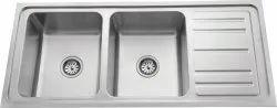 Double Bowl Single Drain Kitchen Sink