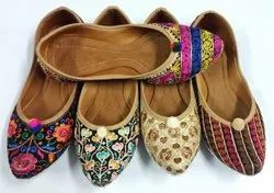 Colorful Embroidered Synthetic Juttis