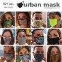 Urban Yogi Printed Cotton Facemask With Adjustable Ear Loops Unisex Men Women Kids